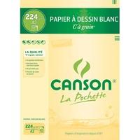 CANSON Pochette de 10 feuilles de papier dessin C A GRAIN 224g A3 Ref-27115