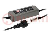 Tápegység: impulzusos; LED; 90W; 12VDC; 7,5A; 90÷264VAC; 127÷370VDC