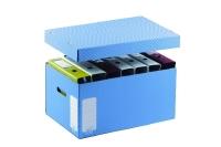 Archiefkartonage 430 x 335 x 270 mm, blauw