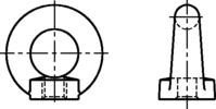 Ringmuttern C 15 ähnlich DIN 582 (entspr. Ausgabe April 1971) M8mm