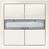 Taster 2-Fach,Platinmet. 5WG1286-2DB42