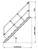Alu-Treppe mit Stufen 45° 10Stu