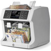 Geldzählmaschine für unsortierte Zählung mit Sortierfunktion