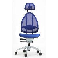 Efektowne obrotowe krzesło biurowe, z zagłówkiem i oparciem siatkowym