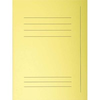 "EXACOMPTA Paquet de 50 chemises pré-imprimés 3 rabats ""SUPER 250"" en carte 210 grammes jaune"