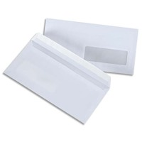 5 ETOILES Boite de 500 enveloppes blanches 75g DL 110X220 mm fenêtre 45x100 mm auto-adhésives