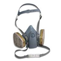 3M Demi masque en silicone textur�, fixation des filtres � ba�onnette conforme Norme EN140 K7502