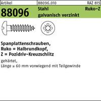 ART 88096 Spanplattenschr. St. 4 x 35-Z galv. verzinkt, Halbrundkopf gal Zn VE=S (1000 Stück)