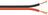 Lautsprecherkabel rot/schwarz, 100 m Spule, Querschnitt 2 x 0,75 mm²