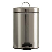 Hygienbehälter 3 L mit Kunststoffinneneimer Ø 17 x H 25,3 cm Edelstahl gebürstet