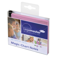 LEGAMASTER Paquet de 100 Notes Magic Chart Rose, électrostatiques, format : 10 x 10 cm + 1 marqueur