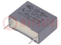 Kondensator: Polypropylen; Y2; 22nF; 15mm; ±20%; 18x6x12mm; 300VAC