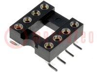 Sockel: DIP; PIN:8; 7,62mm; Kontakte: Kupferlegierung; SMT; 0÷85°C