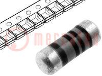 Resistor: thin film; SMD; 0204 minimelf; 15Ω; 0,4W; ±1%; Ø1,5x3,6mm