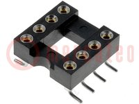 Foglalat: DIP; PIN:8; 7,62mm; Érintkezők: réz ötvözet; SMT; 0÷85°C