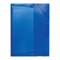 Heftbox A4 PP transluzent blau 4cm