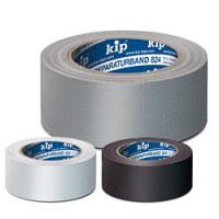 Klebeband, Steinband, Basis-Qualität, Kip 824, 50 m lang, 50 mm breit, schwarz