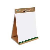BI-OFFICE Tableau conférence portable Blanc Earth, 20 feuilles unies repositionnables recyclé L50xH58,5cm