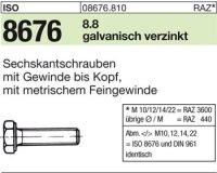 ISO8676 M20x1,5x50