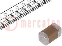 Condensador: cerámico; MLCC; 100pF; 50V; C0G; ±5%; SMD; 0402
