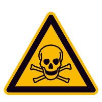 Warnung vor giftigen Stoffen Warnschild, selbstkl. Folie, Größe 20cm DIN EN ISO 7010 W016 ASR A1.3 W016