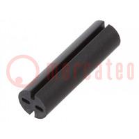 Distanční podložka; LED; Øprům: 5,1mm; ØLED: 5mm; Dl: 18mm; černá