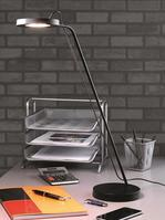 Unilux Illusio Asymmetrical LED Desk Lamp Dimmable with 14 LEDs 40000 Hours Black Ref 400076733