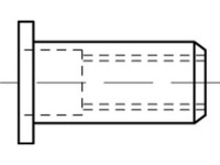 Artikeldetailsicht Blindniet-Muttern, rund, offen,Flachkopf ART 88423 Blindniet-Mu. A 2 Flako M 4 / 2,5 - 4,0