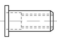 Artikeldetailsicht Blindniet-Muttern, rund, offen,Flachkopf ART 88490Stahl FLAKO M 5 / 0,5 - 6,0
