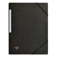 5 ETOILES Chemise 3 rabats monobloc � �lastique en carte lustr�e 5/10e, 390g. Coloris noir.