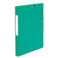 5 ETOILES Boîte de classement à élastique en carte lustrée 7/10, 600g. Dos 25mm. Coloris vert.