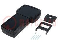 Gehäuse: für Displaygeräte; X:110mm; Y:210mm; Z:40,5mm; ABS