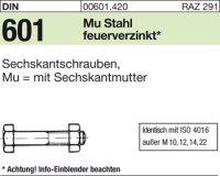 DIN601 M10x25