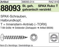 Reyher 880930140060060 ABC SPAX S Screw 6 mm x 60/56 mm