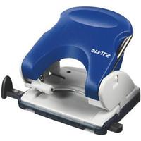 Locher Topstyle®, mit Anschlagschiene, 25 Blatt, 2,5 mm, blau