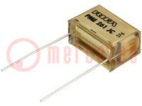 Capacitor: paper; 100nF; 500VAC; Pitch:20.3mm; ±10%; THT; 1kVDC