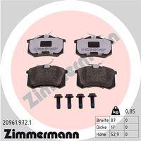 Brake Pad Set, disc brake, ZIMMERMANN, 20961.972.1