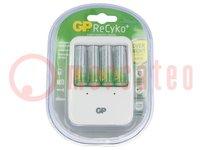 Lader: voor batterijen; Ni-MH; Maat: AA, AAA; Serie: standaard