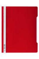 Durable Clear View Report Folder Extra Wide A4 Red (Pack 50) 257003