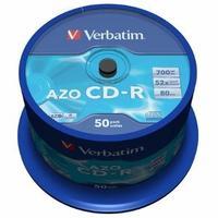 Verbatim CD-R [ cake box 50 | 700MB | 52x | Crystal | DataLife+ AZO ]