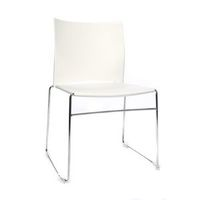 Krzesło do ustawiania w stos, z płozami