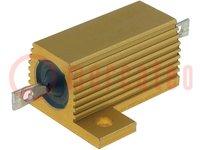 Resistor: wire-wound; with heatsink; screw; 1Ω; 25W; ±5%; 100ppm/°C