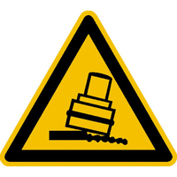 Modellbeispiel: Warnschild, Warnung vor Kippgefahr beim Walzen, Art.-Nr. 21.0322
