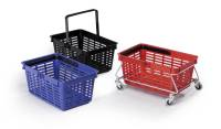 DURABLE Einkaufskorb SHOPPING BASKET 19, rot