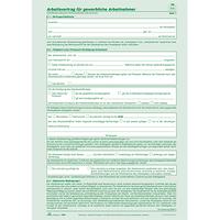 Rnk Arbeitsvertrag 542 Gewerbliche Arbeitnehmer Din A4 2x2blatt Bei