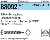 ABC SPAX S Screw 3 mm x 20/16 mm