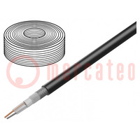 Wire: microphone cable; 2x0,35mm2; black; OFC; LSZH; -30÷70°C