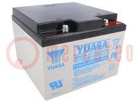 Acum: de plomo-ácido; 12V; 24Ah; AGM; sin mantenimiento