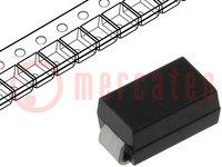Diode: gelijkrichter; SMD; 600V; 1,5A; Verpakking: rol, band