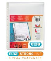 Elba Expanding Pocket Extra Capacity Polypropylene with Flap 180 Micron A4 Clear Ref 100080754 [Pack 10]